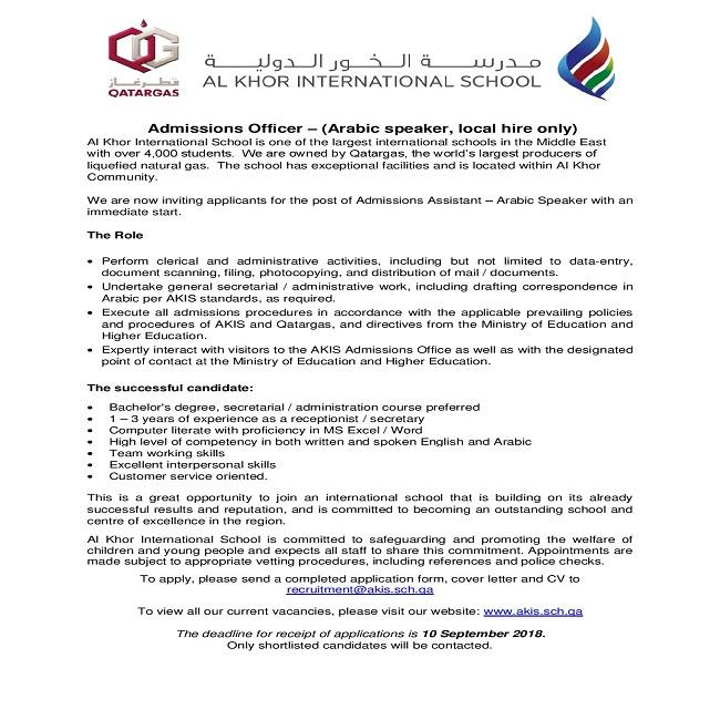 admissions officer cover letter - Orgsan.celikdemirsan.com